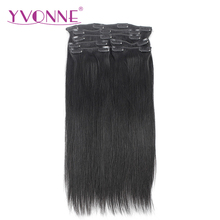 Trade Assurence Virgin Human Hair Natural Straight Clip In Hair Extensions With 18 Clips