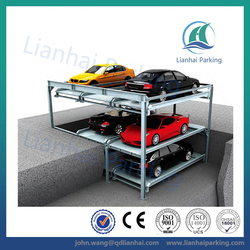 three floor puzzle auto lift parking equipment with CE