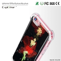 Decorate latest design clear air hybrid cellphone cover for iPhone 6 cover