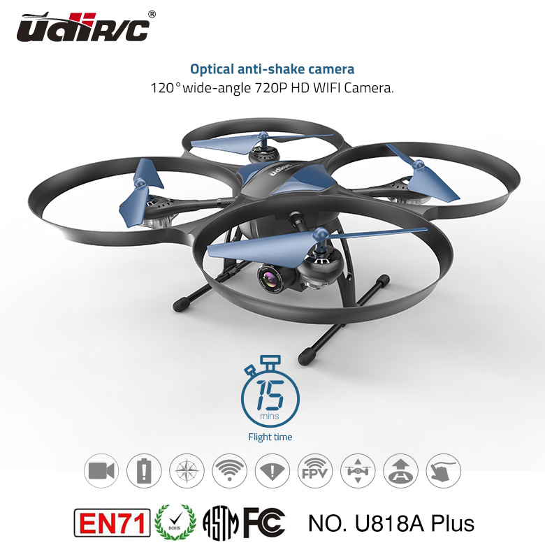 2017 UDIRC quadcopter big drone RTF U818A PLUS