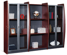 Hot Cheap Wooden Bookcase Design Filing Cabinet (SZ-FC013)