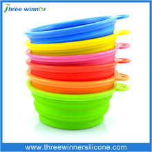 Collapsible silicone Pet Feeding Bowl DogTravel Dish Silicone Bowl