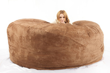 giant 8FT cylinder Foam bean bag velet bean bag chair bean bag lounge sofa furniture