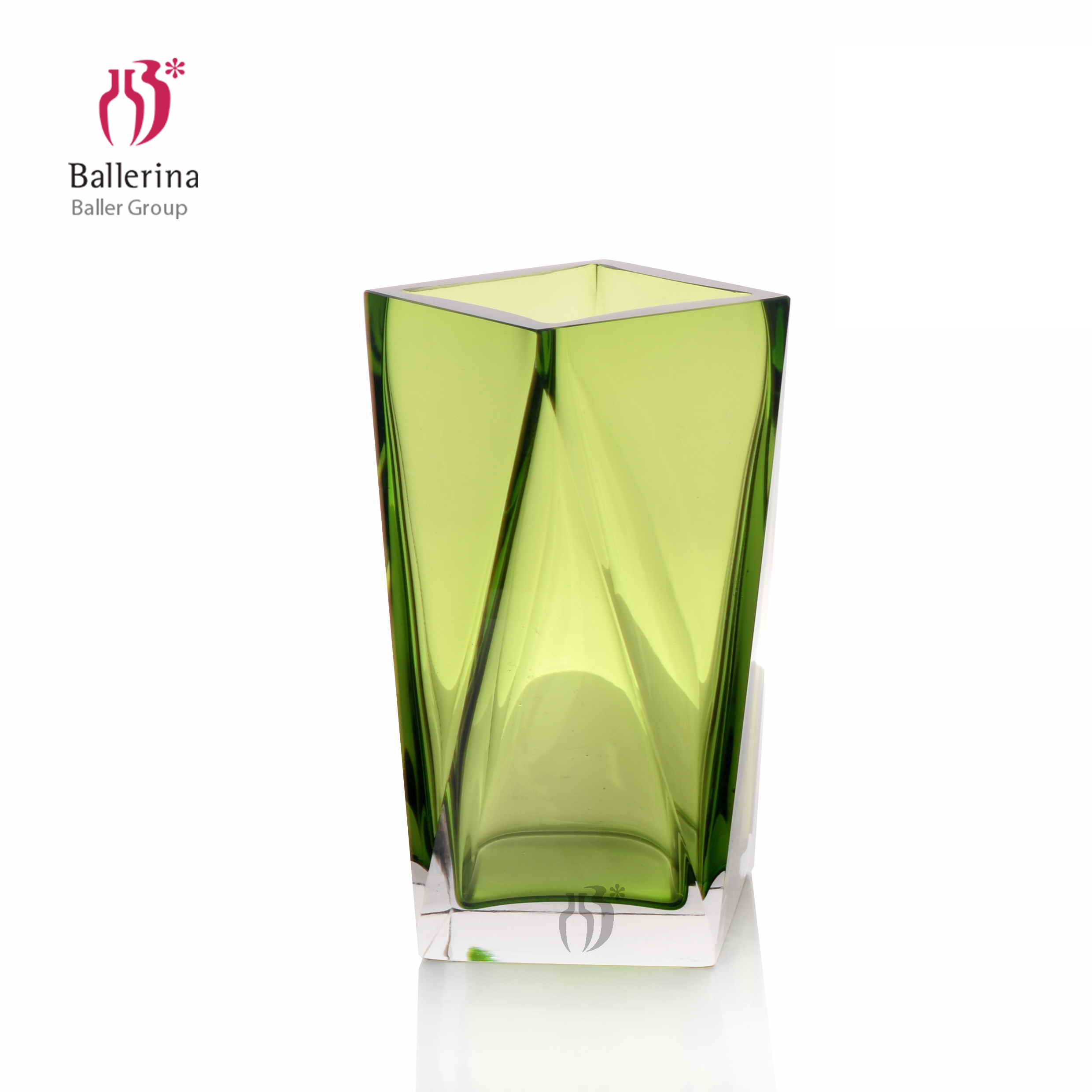 High Quality Handicraft Modern Style Green Glass Vases