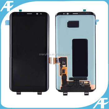 Black color touch screen display for Samsung Galaxy S8 SM-G950P SM-G950F digitizer lcd