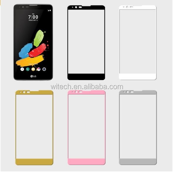 Wholesale Full cover HD 0.33mm 2.5D 9H Hardness Screen tempered glass screen protector for Lg aristo for LG LV3 ms210