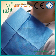 Disposable dental patient towel for dental bib clips