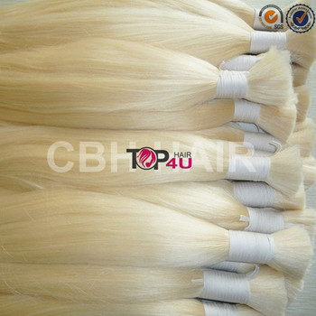 Double drawn hair bulk blond full cuticle