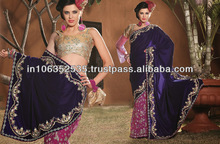 Embroidery sequence work Lahanga style saree....
