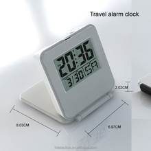 Digital flip case travel alarm clock Foldable Battery-powered Alarm Clock