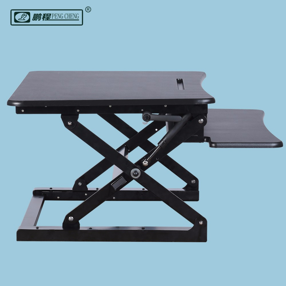 New Arrival Steel Wood Desktop Office Sit to Standing Desk