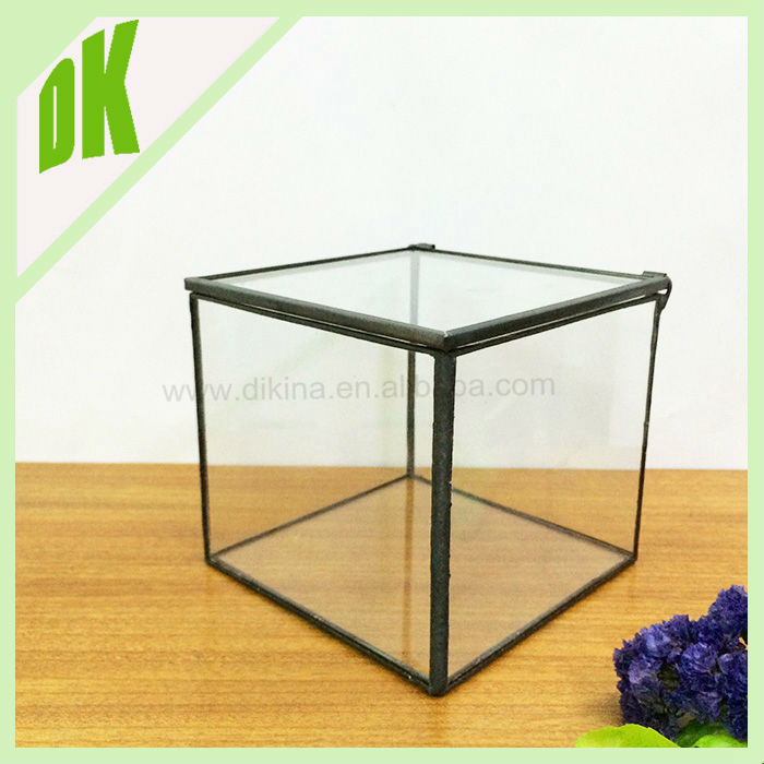 Promotional wholesale clear cylinder glass candle holder ```` tulip shaped geometric glass circle of friends candle holder
