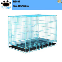 Cozy alu dog cage with plastic pallet