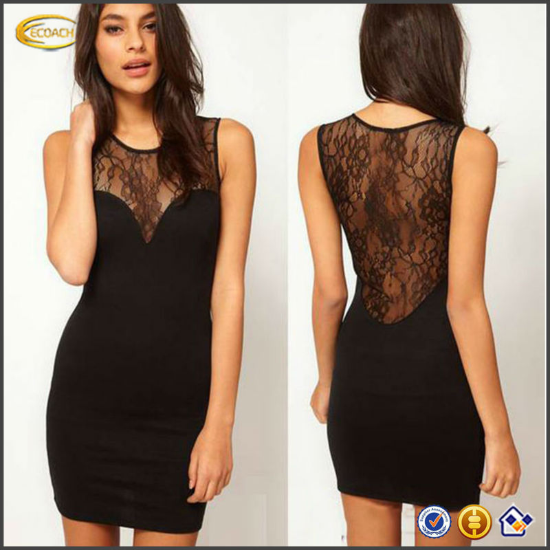 New fashion Sexy Black deep V Style Cocktail lace prom tube dress free prom dress OEM supplier China