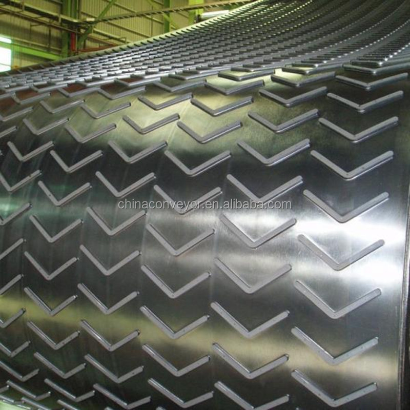 Cleated Rough V Shape Pattern Rubber Belt/Chevron Conveyor Belt
