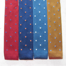 Custom knitted skinny custom embroidered tie