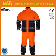 100% polyester waterproof working winter reflective coverall