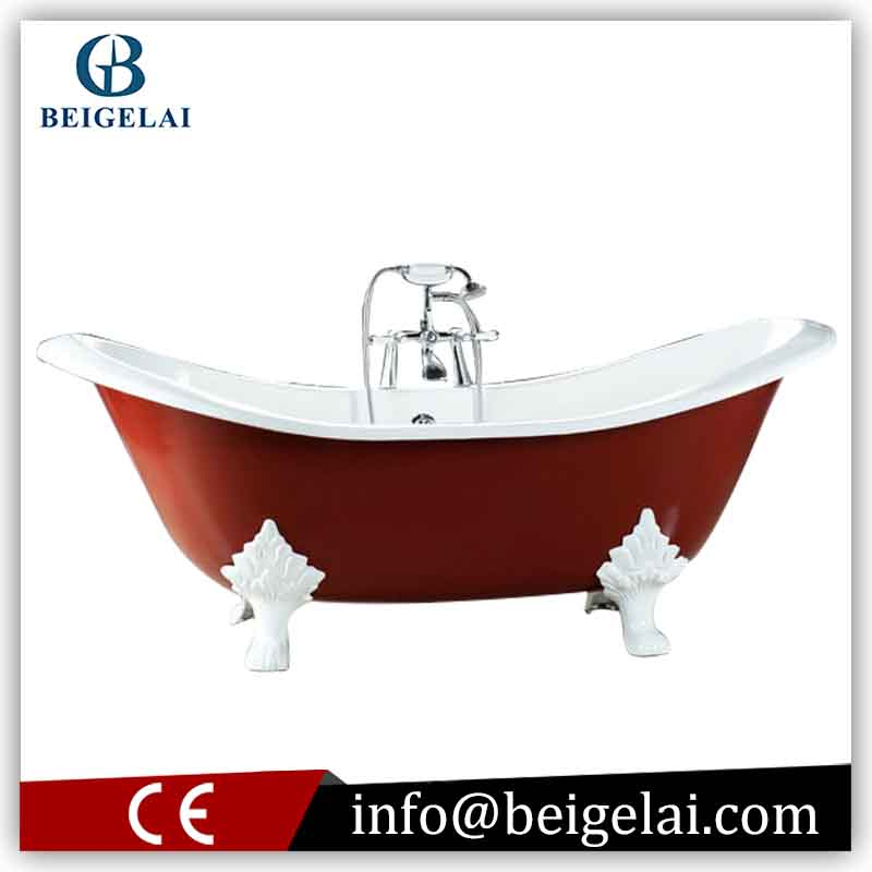 Ceramic Bathtub Red Bathtub Baby Bath Standing Baby Bath Tub