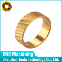 customized cnc processing brass parts Iso 9001 parts brass ring