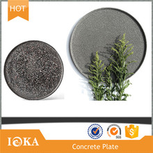 Custom Round Concrete Serving Platters,Modern Cement Tray