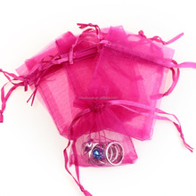 Drawstring Organza Jewelry Favor Pouches Wedding Party Festival Gift Bags Rose Candy Bags