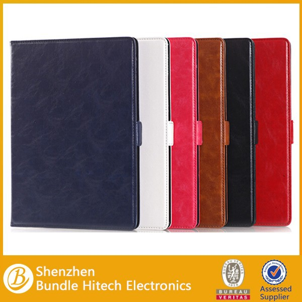 For iPad air 2 leather wallet case,For apple iPad air 2 leather case