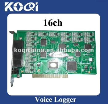 16 lines telephone voice recording card