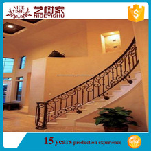 2016 home decoration High Quality Curved Wrought Iron Railing Stairs /Hot New Products For 2016 Wrought Iron Balusters