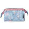 Fashion Travel Accessories Woman Zipper Print Korean Cosmetics Makeup Bags Pouch Case