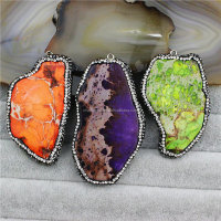 CH-MAP0741 Hot sale emperor stone pendant pave diamond charms,Fashion jewelry natural emperor necklace pendant wholesale