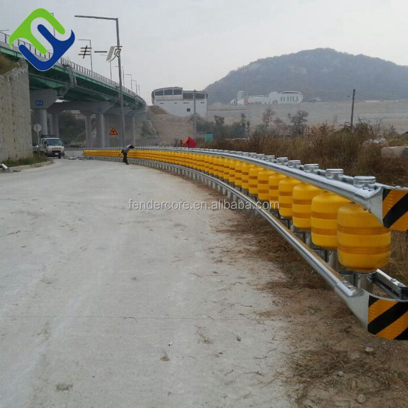 Tunnel entrance and exit safety roller barrier