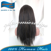 Stock wholesale lace front wig Kinky straight Best Quality Indian human hair