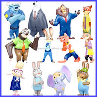 New Movie Cartoon Utopia Action Figure Zootopia Pvc Mini Models