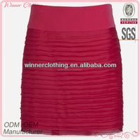 sexy woman skirt pleats tight fit sexy women in short skirts with rose color