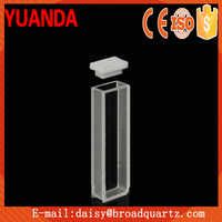High quality standard type Quartz Cuvette using laboratory 45*12.5*12.5mm