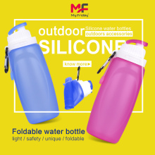 Silicone pocket-sized travel water bottle collapsible bottle