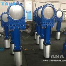 12 inch cast steel wcb wafer type pneumatic knife gate valve