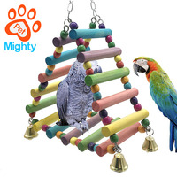 Wooden Various Size Parrot Ladder Bridge Parrot Nibbling Flying Bird Toy