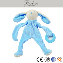 cute baby rabbit/bear doudou toy with teether