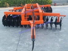 Cultivating machine tractor trailed offset heavy disc harrow with 28 discs
