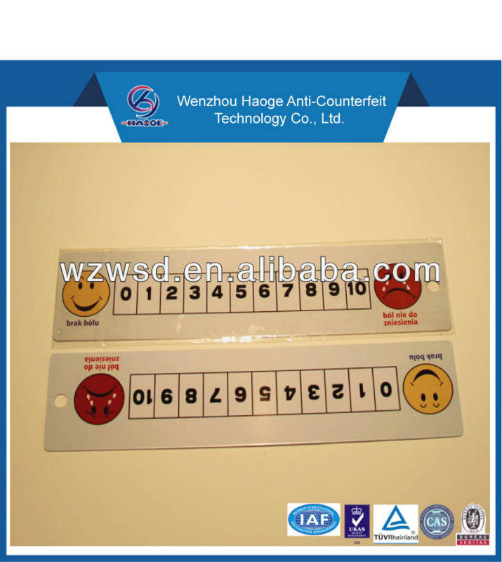 8 inch promotion plastic ruler