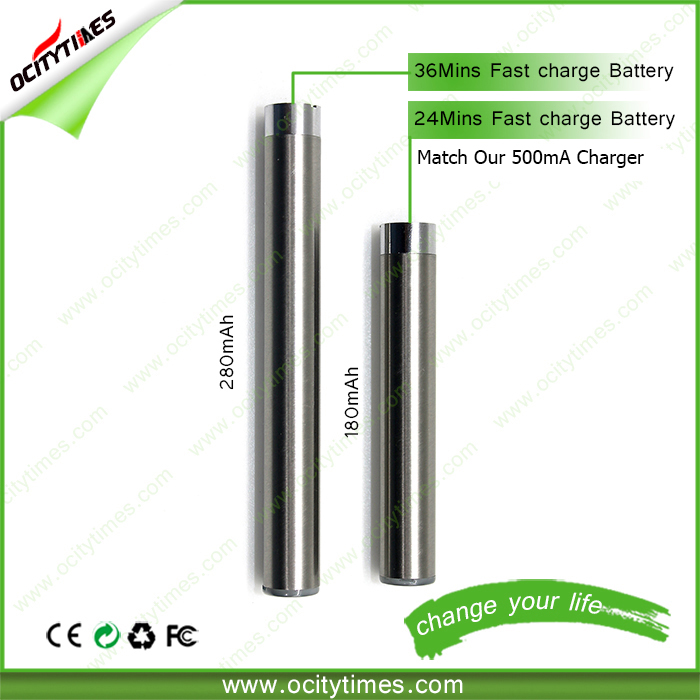 New technology 24mins fast charged battery Ocitytimes 510 battery cbd oil vaporizer
