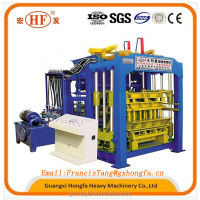 QT9-15 large cement brick making machinery, road tile making machine
