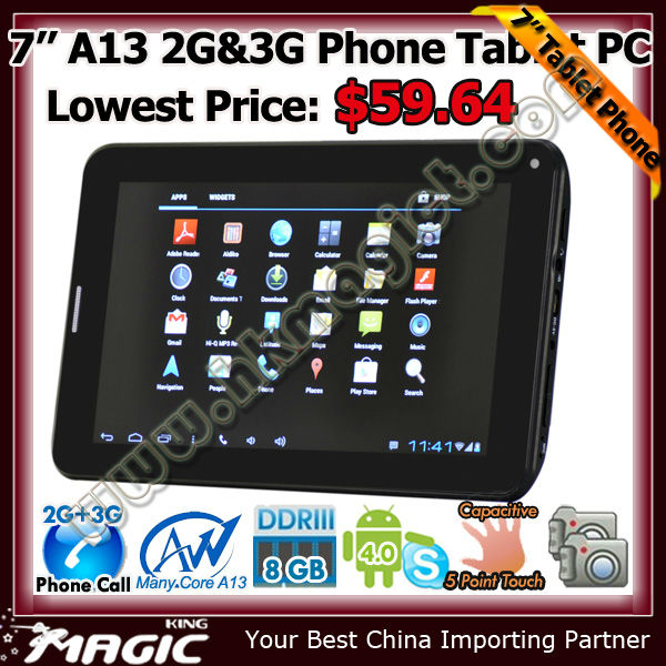 Newest 7inch a13 q88 allwinner tablet in bulk wholesale