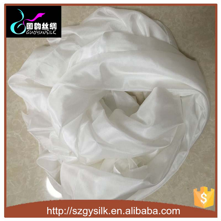 White Silk Paj Scarf For Dying printing
