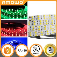 DC12/24V Ra80 60leds 14.4w/m led strip 3m adhesive 12v waterproof led strip lights high lumen 5050 smd led strip at UL List