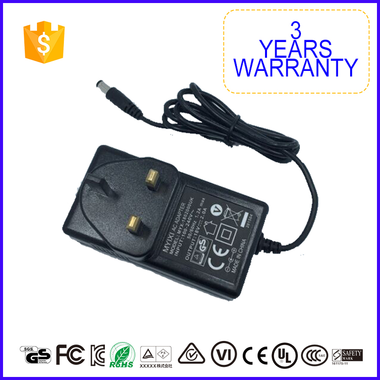 Factory Direct Sale 19V 1.7A 2.0A 2A Power Adapter With Uk Us Eu Au Plug
