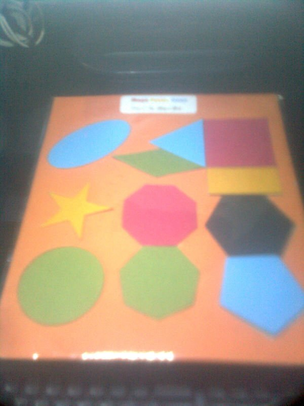 shape puzzle game for blind or visual impaired person
