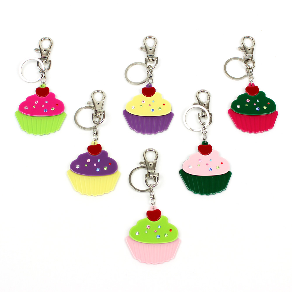 ACRYLIC JEWELRY CUPCAKE KEY CHAIN ACRYLIC JEWELLERY CHILDRENS