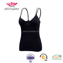 High Quality Padded Seamless Camisole Tank Top With Shelf Bra